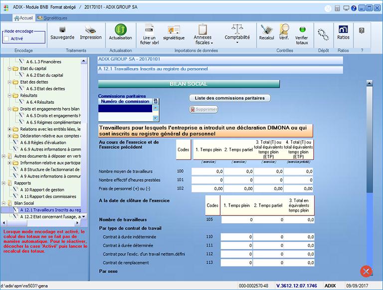 Module BNB comptes annuels